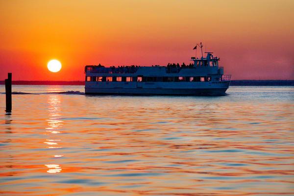 Sunset Ferry Photography Art   nancyney