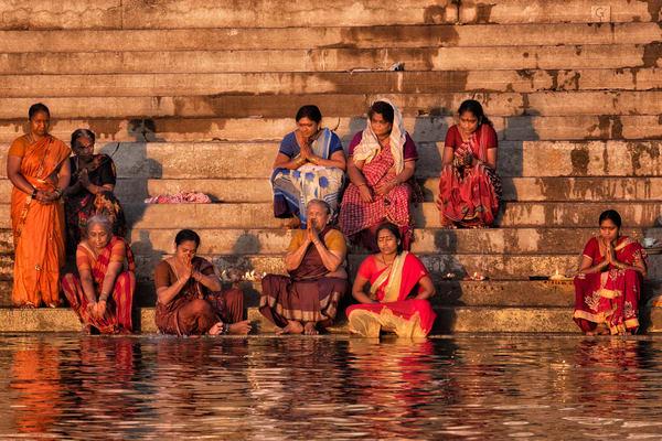 Veranasi Women On Ghats Photography Art | nancyney