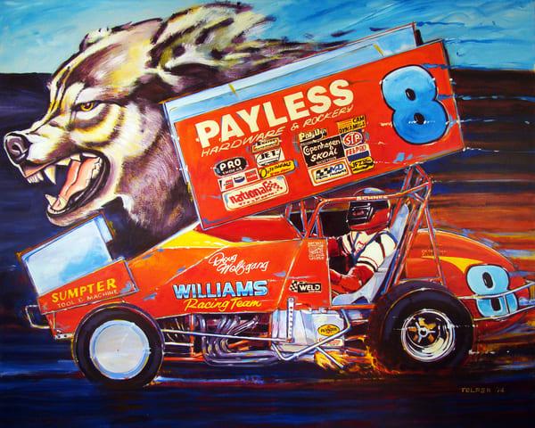 Doug Wolfgang  Sprint Car Champion Art | Telfer Design, Inc.