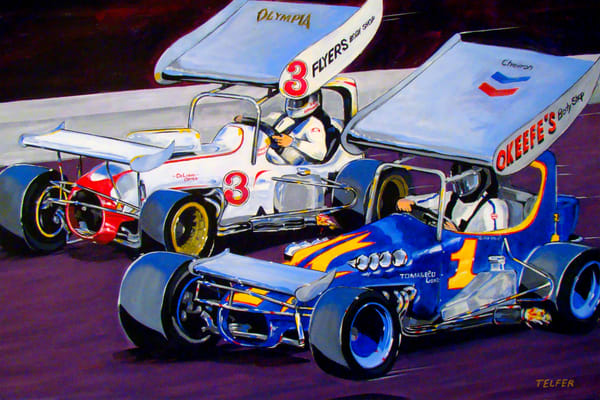 Rescino & Kaeding  Speedway Showdown Art | Telfer Design, Inc.
