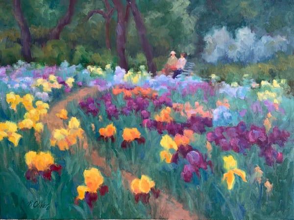 Iris Garden Art | B. Oliver, Art