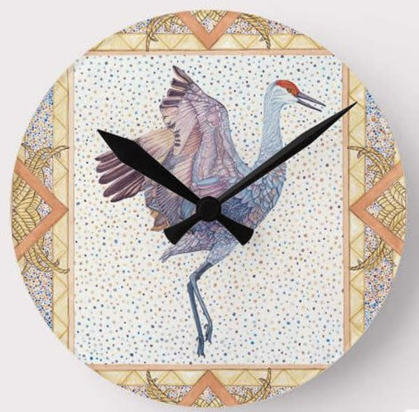 Sandhill Crane Wall Clock Art | Birds by Boyd
