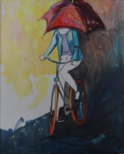 Under My Umbrella Art   Merita Jaha Fine Art