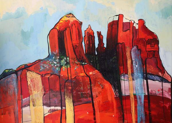 Red Rock Symphony  Art   Merita Jaha Fine Art
