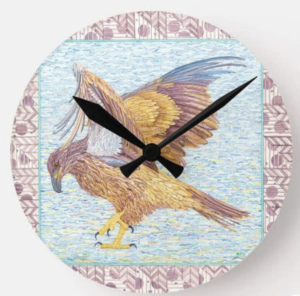 Juvenile Bald Eagle Wall Clock Art | Birds by Boyd