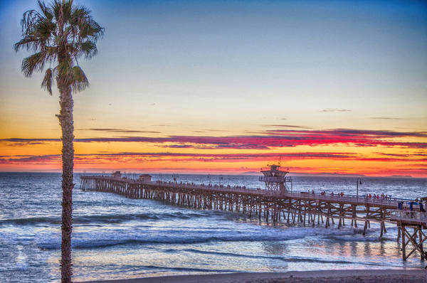 San Clemente Pier Sunset Photography Art | Rosanne Nitti Fine Arts