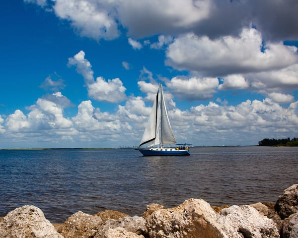 Blue Sailboat Photography Art | It's Your World - Enjoy!