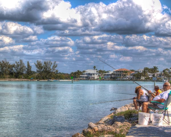 Fishing At Jetties Photography Art | It's Your World - Enjoy!
