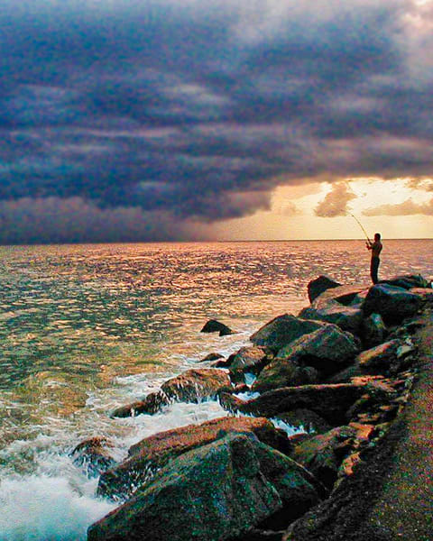 Fishing In Storm Photography Art | It's Your World - Enjoy!