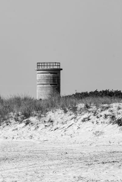 World War Ii Watch Tower Over The Dunes In Delaware Art   Brandon Hirt Photo