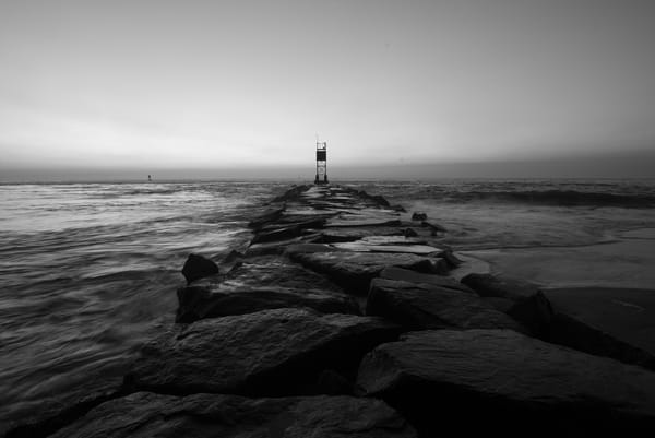 Jetty at the Indian River Inlet at Delaware Seashore State Park