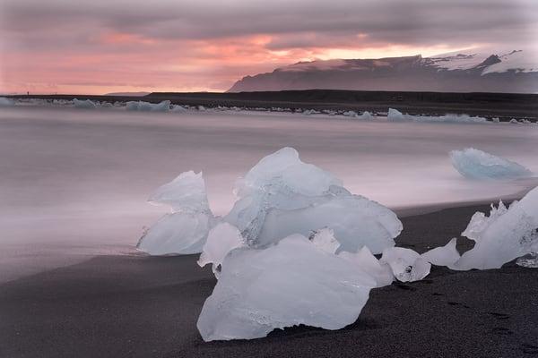 Pink Sunset Ice Photography Art | nancyney