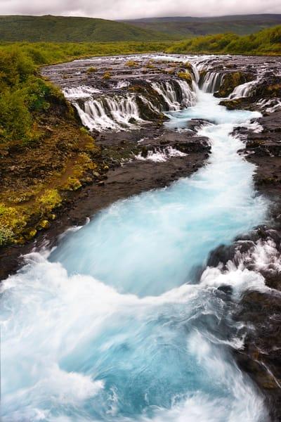 Bruarfoss Waterfall Photography Art | nancyney