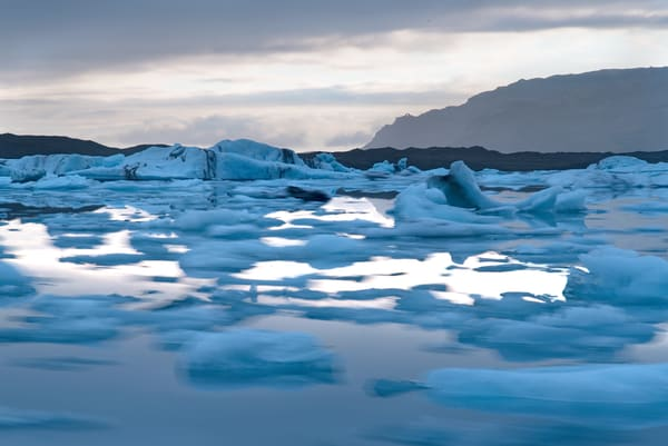 Lagoon Ice Floats Photography Art | nancyney