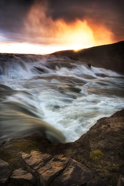 Sunrise Waterfall Photography Art | nancyney