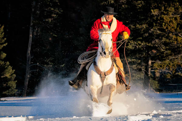 Rider In The Snow Photography Art | nancyney