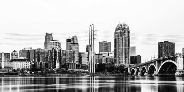 May Reflections Of Minneapolis Black And White 3 Photography Art | William Drew Photography