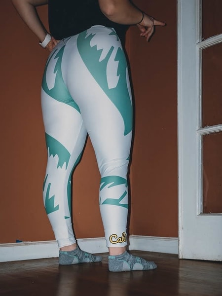 Califournia Women's White Leggings | Alex Ranniello Art