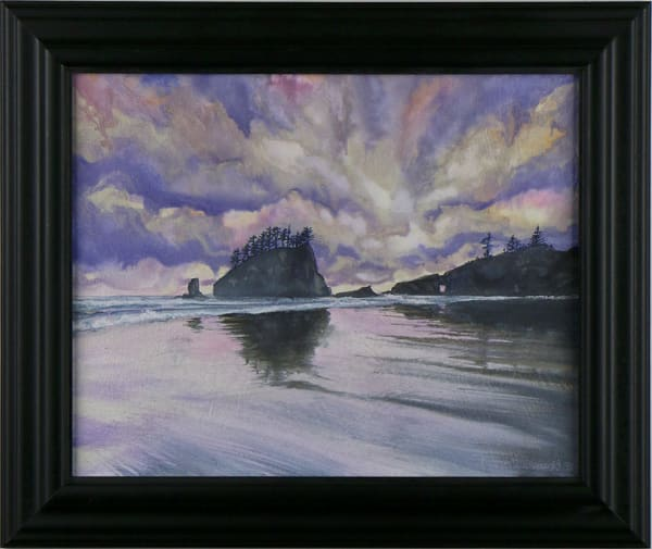"""La Push, WA"" a Washington State Park watercolor original by Montana artist Joe Ziolkowski."