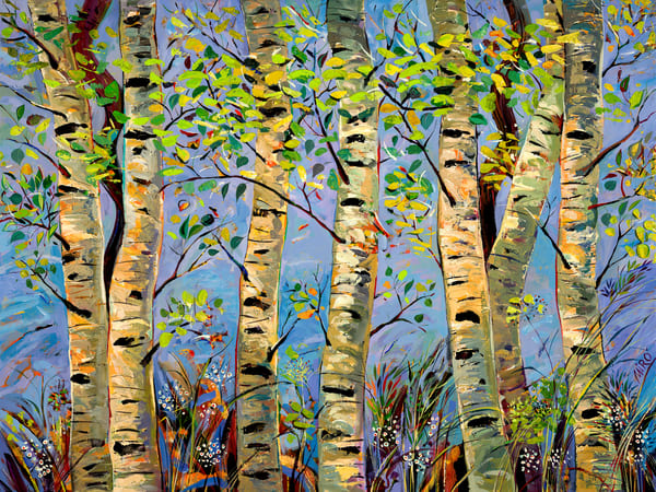 Aspens Wind In Blue/Open Edition Art | KenarovART Inc