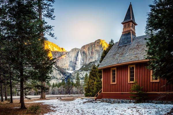 Yosemite Falls & Chapel Art | Tony Pagliaro Gallery