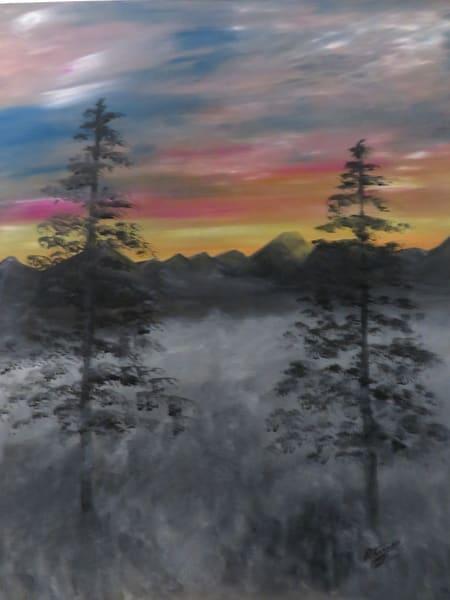 Foggy Sunrise Art | Artist Ron Turner