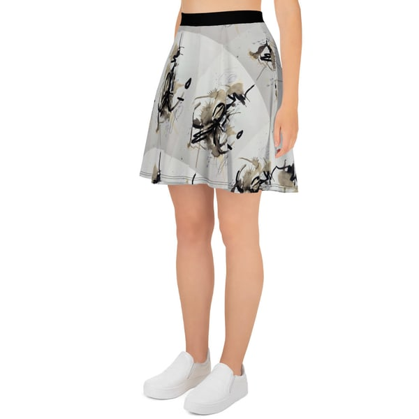 Black And White Chandelier Flow Skirt | ashalmonte