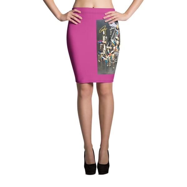 Black Chandelier Pencil Skirt | ashalmonte