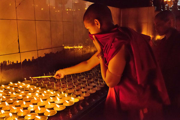 Devotion at the Stupa