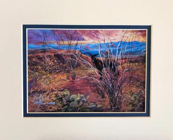 Lindy Cook Severns Art   Coloring the Desert, mini-print