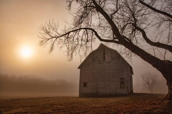 Barn Fog Sun 0 W5 A9735 Cdc19 1  Fs Photography Art | Koral Martin Fine Art Photography