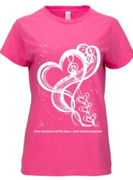 "Women's ""From The Bottom Of His Heart"" In Pink  