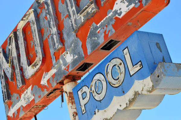Pool Neon Sign Route 66
