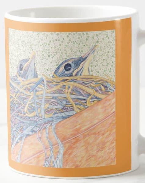 Robin's Nest Mug (Gold) | Birds by Boyd
