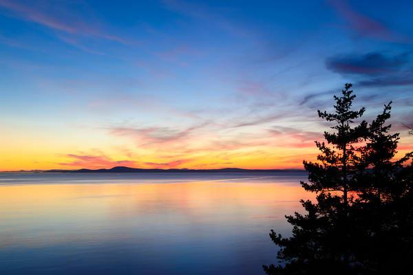 Twilight Over Northwest Pass, Deception Pass State Park, Washington, 2016
