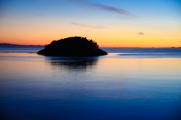 Sunset Over Deception Island, Deception Pass State Park, Washington, 2016