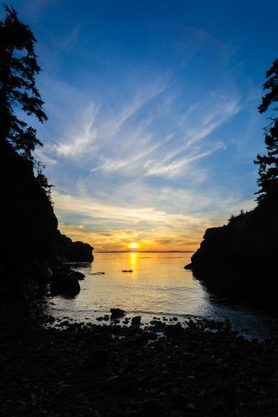 Sunset, Lighthouse Point, Deception Pass State Park, Washington, 2016