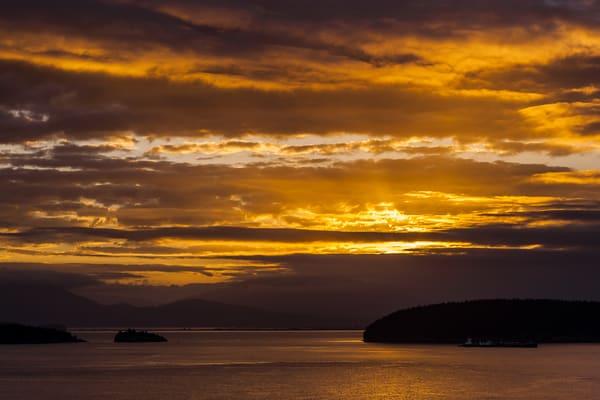 Sunrise Over Fidalgo Bay, Anacortes, Washington, 2016
