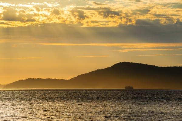 Sun Rays Over Rosario Strait, Anacortes, Washington, 2016
