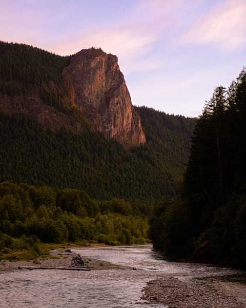 Summer Evening Light on Tower Rock, Washington, 2019