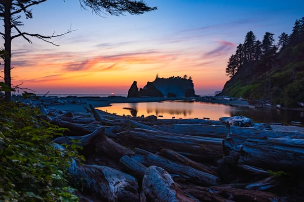 Ruby Beach Sunset Photography Art | Call of the Mountains Photography