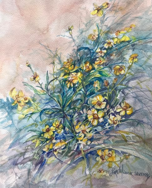 Lindy Cook Severns Art | A Spray of Summer Joy, notecard