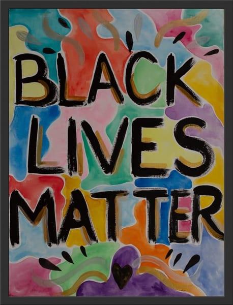 Black Lives Matter (Framed) Art | Makiko Harris Art