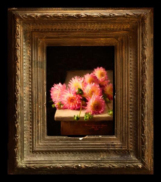 """Dahlias botanicals Gloria"" Encaustic Painting"