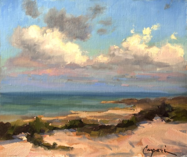 Pea Island National Seashore 10x12 Plein Air Oil 2020 Art | robincaspari