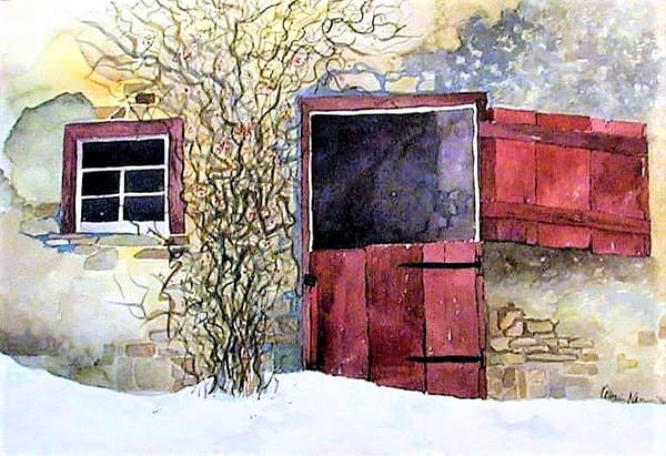 Barn Door from New England by Katharine Taylor