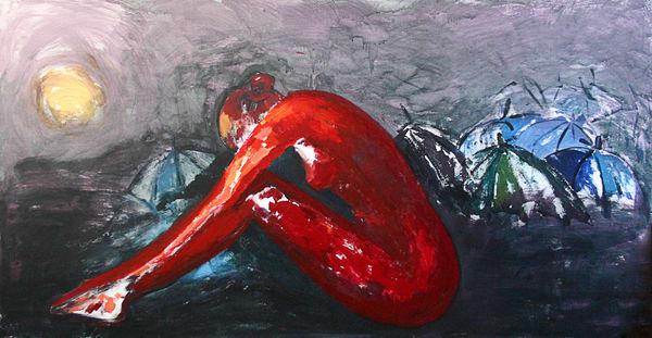 Red Angst Art | Merita Jaha Fine Art