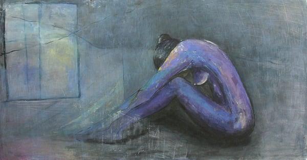 Purple Angst Art | Merita Jaha Fine Art