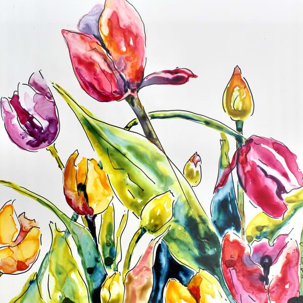 Tulip Party Art | Karen Bishop Artist