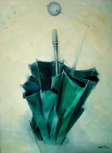 Green Umbrella Art | Merita Jaha Fine Art
